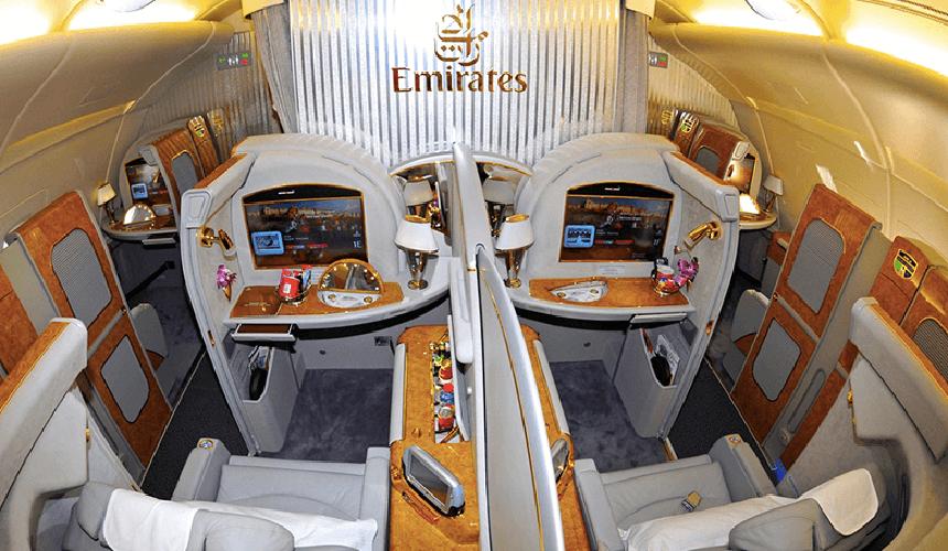 صندلیهای فرست کلاس هواپیمایی امارات