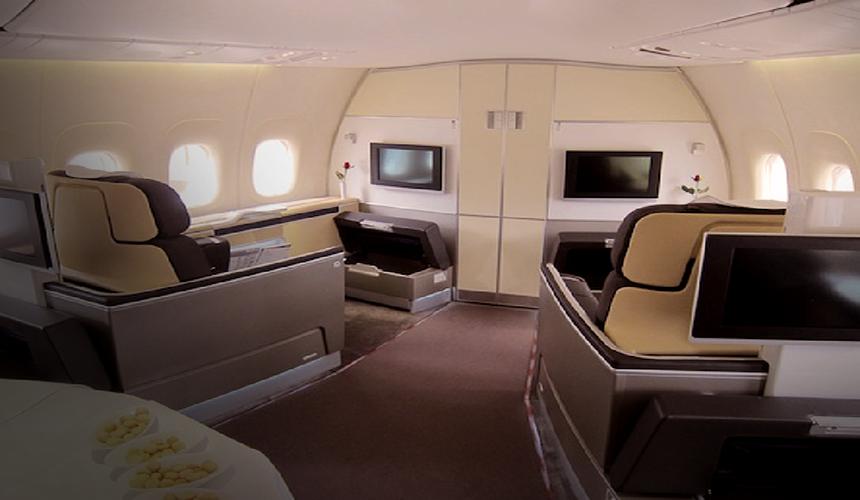 خردید بلیط صندلی فرست کلاس هواپیمایی لوفتهانزا