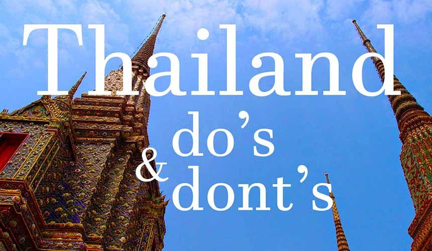 باید نبایدهای تایلند