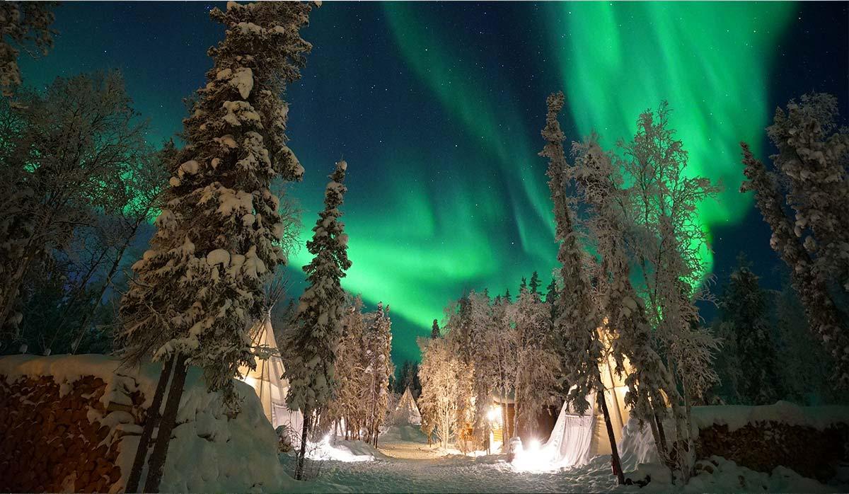 شفق قطبی در کانادا