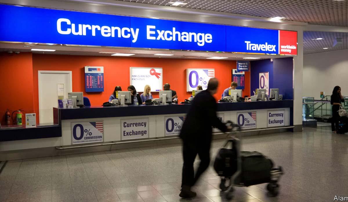 تبدیل ارز در فرودگاه