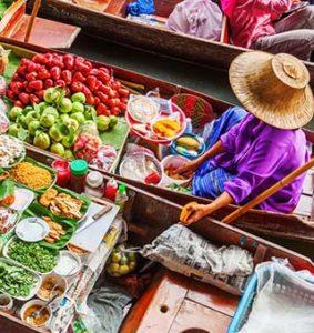 بازارهای روی آب تایلند، تجربه خریدی هیجانانگیز و متفاوت!