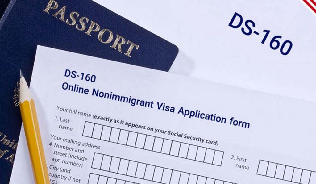 فرم Ds 160 ویزای آمریکا
