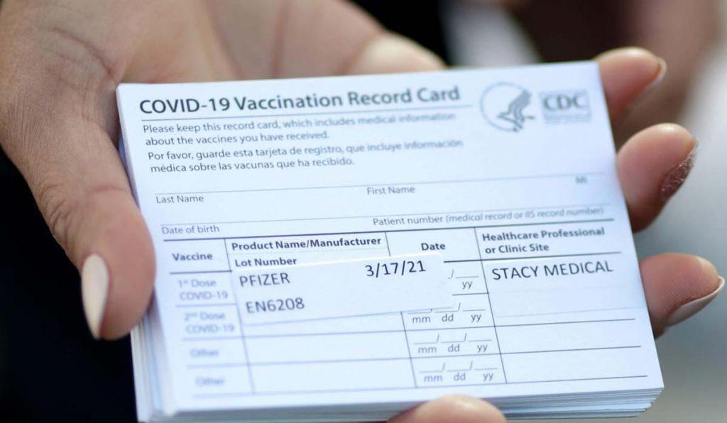 کارت دیجیتال واکسن کرونا